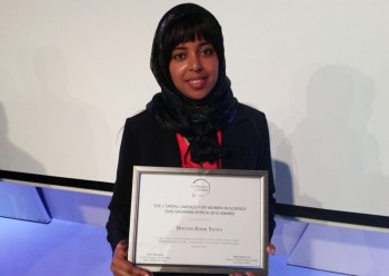 A Young Postdoctoral Fellow at UNISA Shines Again in Science Awards